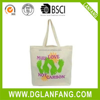 Natural Organic textile Cotton Deluxe Grocery Quality Recyclable Promotional cotton shopping bag