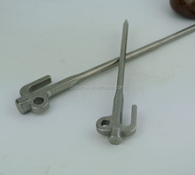 Stainless Steel Camping Outdoor Metal Tents Pole Pegs 198/298mm