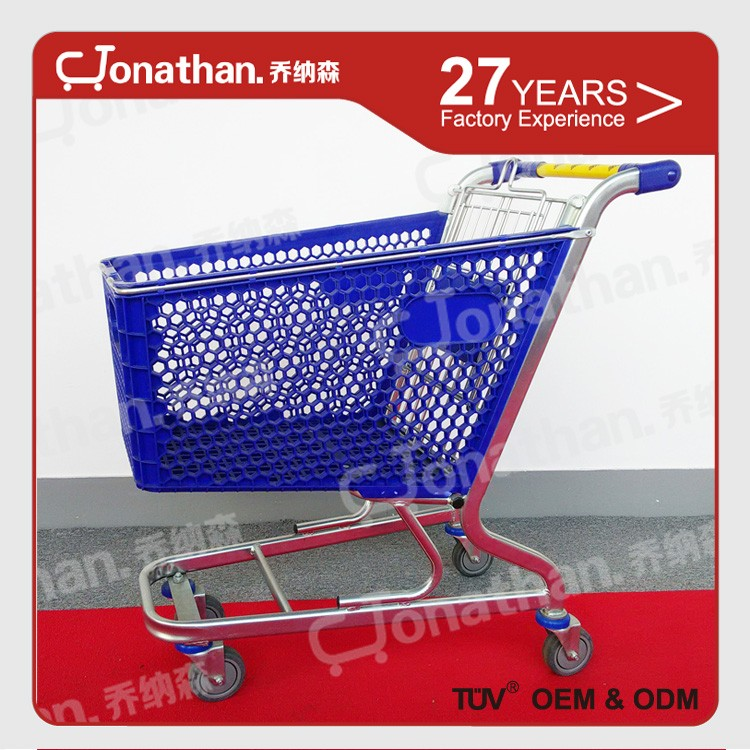 100L funky shopping plastic basket shopping cart trolley