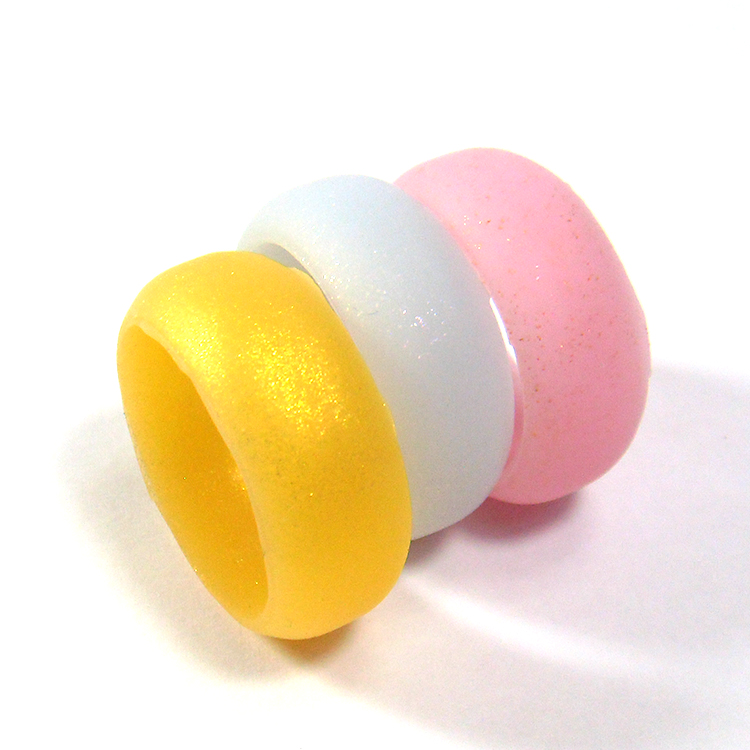 Pearl Esent Pigment Silicone Rings Vape Bands