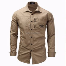 Men Shirts Fashion Mens Long Sleeve Slim Fit Outdoor military Dress Shirts
