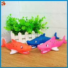Pvc material frozen toy inflatable kids soft vinyl toy shark