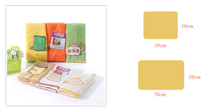 Stock wholesale 100% Cotton embroidery kitchen towel for tea gift set