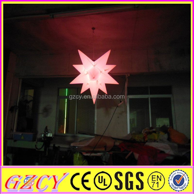 Colorful Star Inflatable LED Lighting for Christmas Decoration