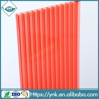 colored polycarbonate panels double wall lightweight roofing materials