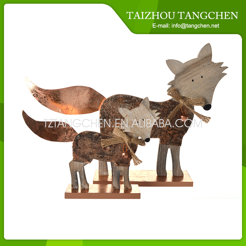 New fashion Christmas animal wholesale wood craft supplies