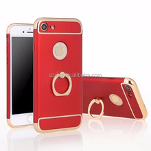 3 in 1 super slim rubber coating hard PC protective cell phone case for iPhone 6 7 7 Plus