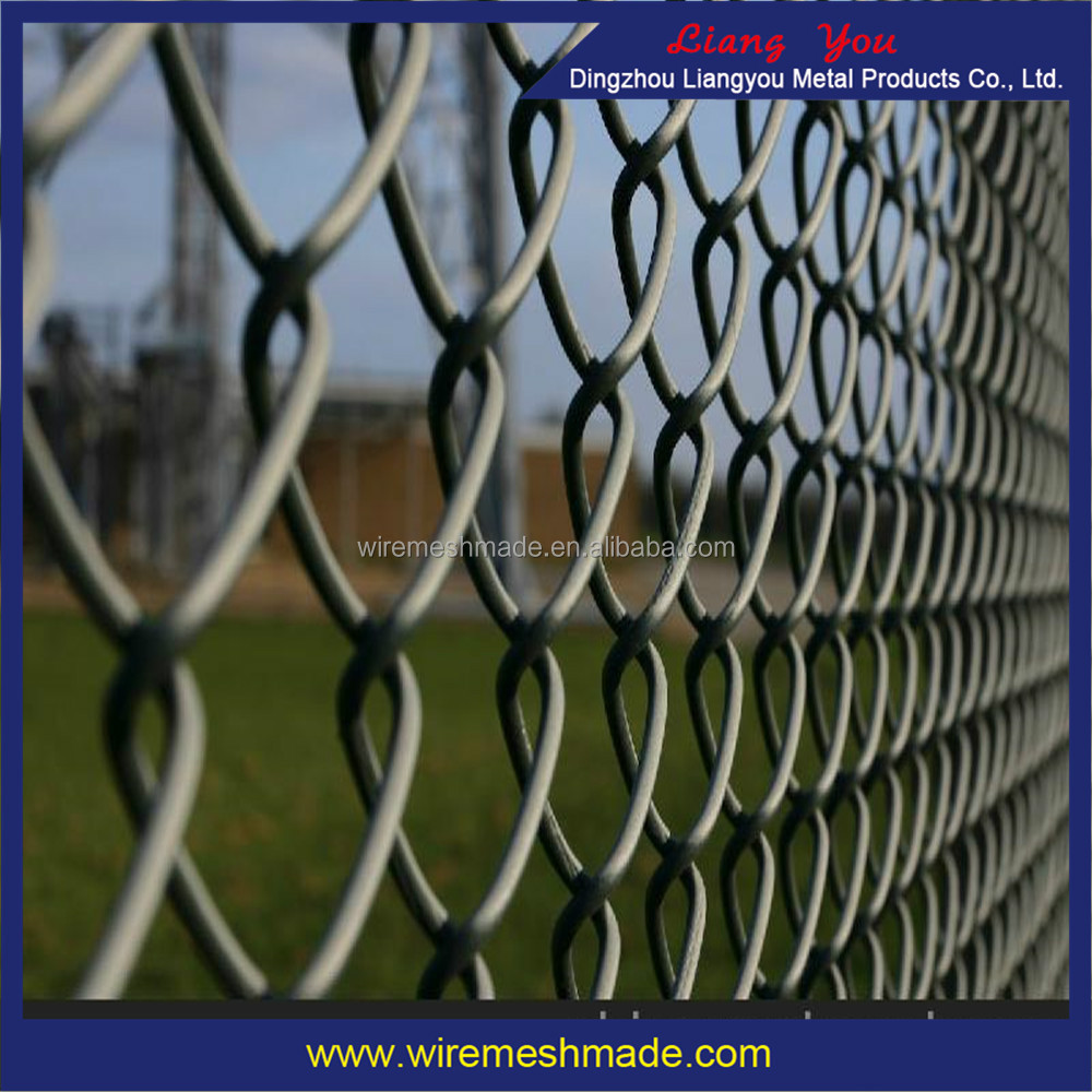 The Galvanized Mesh Chain Link Fence, Diamond Mesh