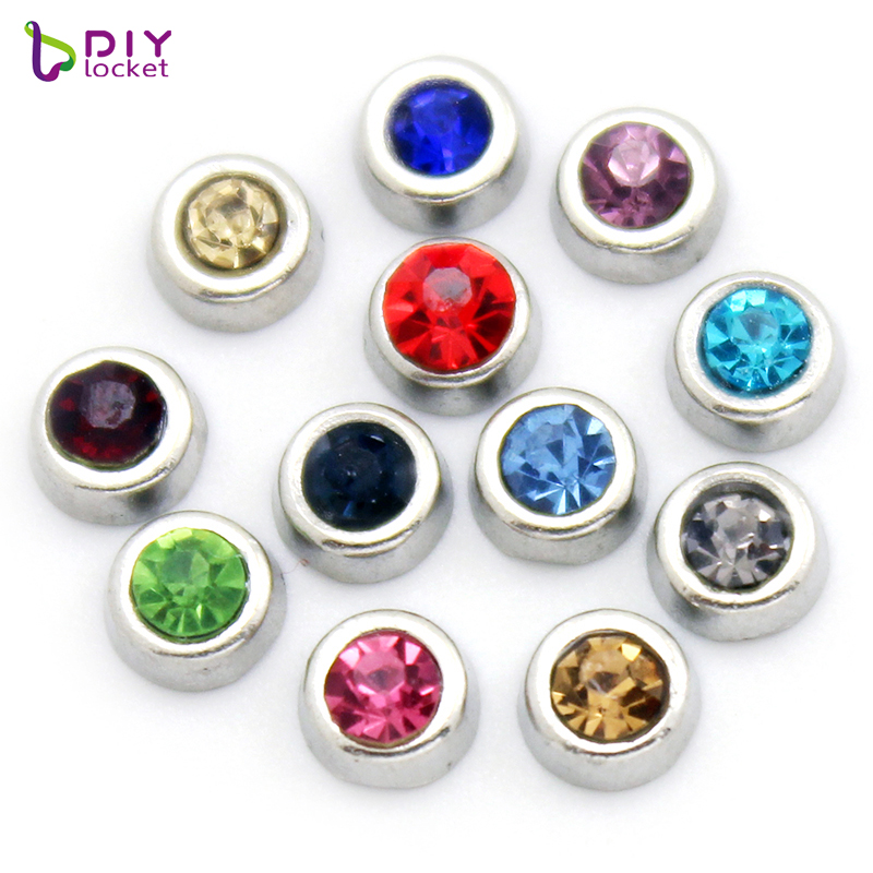 Wholesale Crystal Alloy Round Floating <strong>Charm</strong> For Women Locket Necklace