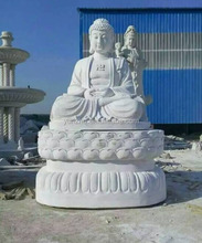 White Marble Stone Carved Buddha Statue Sculpture for Heart Peace