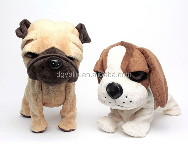 Plush electronic toy stuffed battery operated dog toy