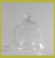 Bell shape cake cover,Clear glass cake dome cover, decorative glass bell jar