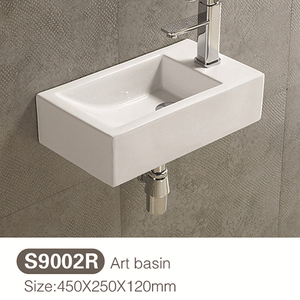 china ceramic sanitary ware single hole square wash basin price