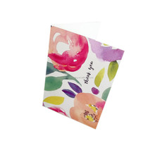 custom photo floral thank you note cards 100 pack with envelope wholesale