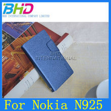 Flag Wallet Leather Case for Nokia Lumia 925 with Card Slots