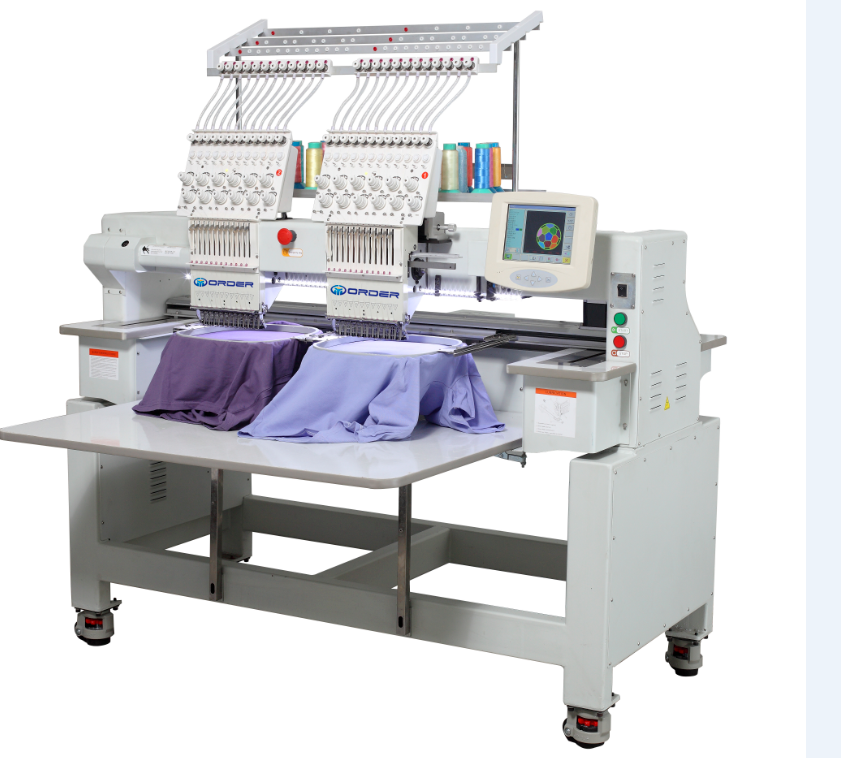 "Hot Selling 2 Head Cap Embroidery Machine Computer Operation 8"" Topwisdom Computer Price"
