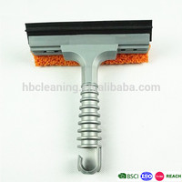 cellulose window cleaning squeegee with rubber wiper
