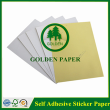 wood pulp office self adhesive sticker paper for making box label paper
