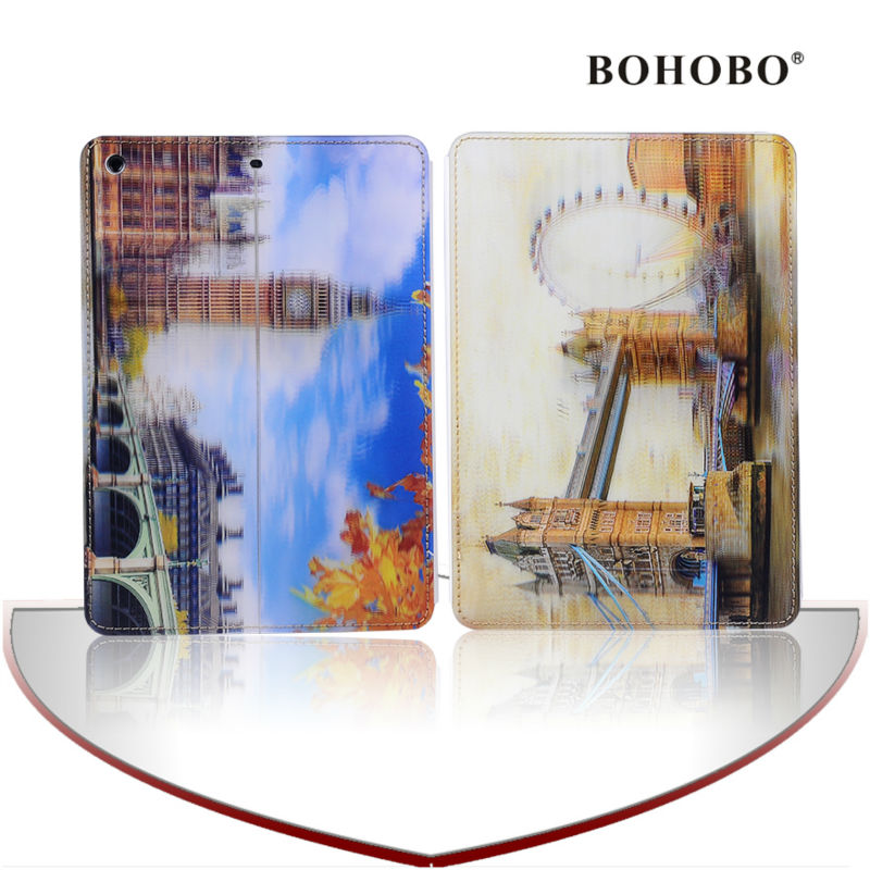 3D printing Flip pu Leather with car pattern cover/Case for apple iPad air5