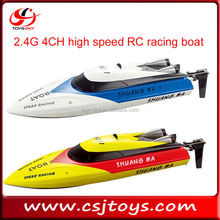 2017 new products 2.4G 4CH high speed RC racing boat double horse shuang ma rc boats for sale