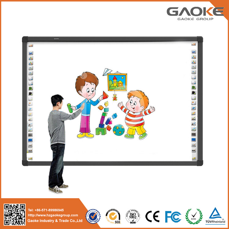 Mini smart board for sale 82'' 96'' 104'' 130'' white boards dual touch CE aluminum frame smart board for kids