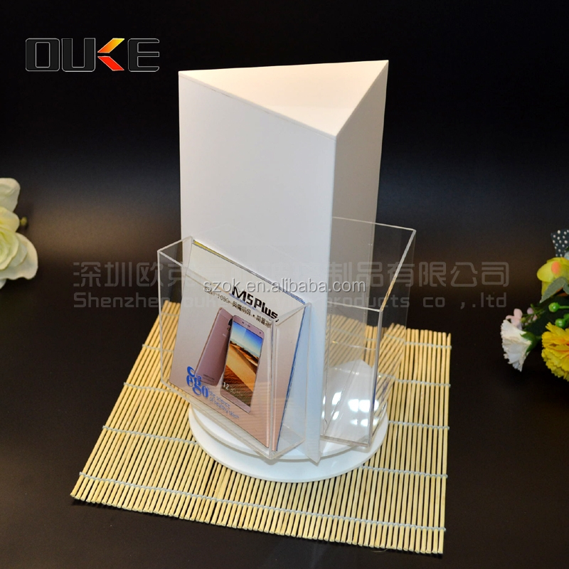 new style rotating acrylic magazine holder for sale