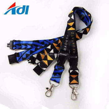 custom logo lanyard with quick release safety breakaway buckles