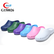 surface smooth acidproof alkali hospital shoes clog with colors
