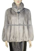2014 new style best quality lady's mink fur with rex rabbit chinchilla fur coat MK02