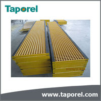 Fiberglass pultruded trench grating