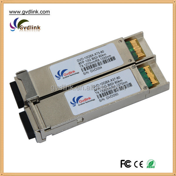 100% compatible Optical transceiver XFP-10G-BX80D-I XFP 10G BiDi 1330nm/1270nm 80km reach