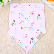 Toddlers triangle Printing logo baby double cotton bibs baby bandana drool bibs