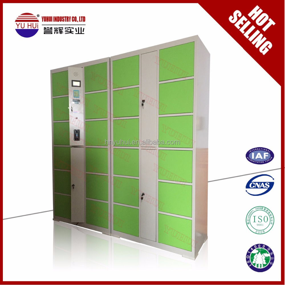 supermarket coin operated electronic cabinet / coin operated electronic storage locker cabinet