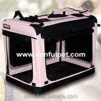 Foldable Dog Crate with curtain Pet Carrier Dog Kennel soft crates