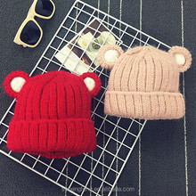 2017 fashion winter style children's hat,Knitted woolen hat, outdoor thermal woolen cap