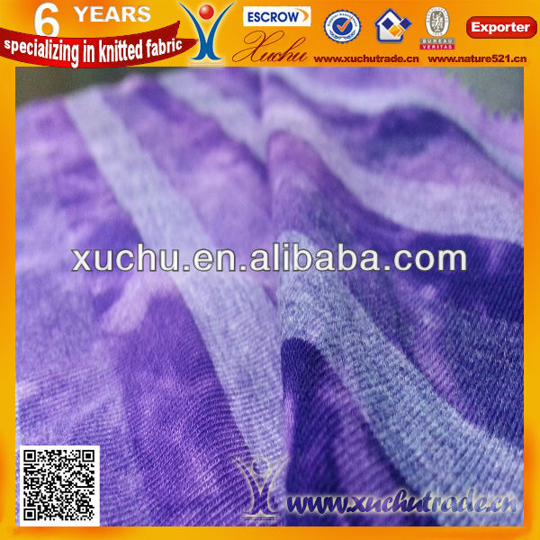 CVC Cotton Polyester Spandex Yarn Dyed Tie Dye Knitted Fabric