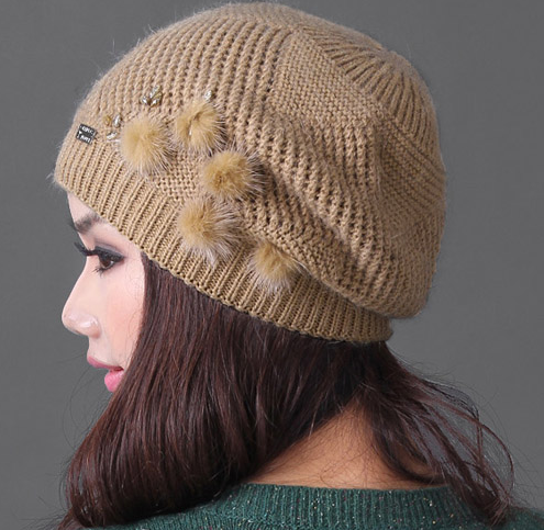 2016 Women Knit Beret Hat / Fasion Women Beret Knit Hat/knitting Beret Hat Pa...