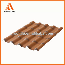 Fangxing hot sale Synthetic Resin Material plastic spanish roof tile,UV-resisitance,Anti-corrosion,Fire resistance