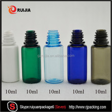 CFR wholesales clear white black green blue amber colorful plastic child resistant bottle pet 10ml