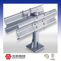 Hot galvanized double wave steel w beam guardrail dimension made in China