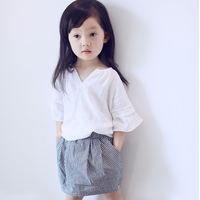 MS70302B Wholesale young girls clothing sets fashion matching checked skirts and tops
