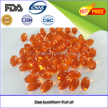 2017 New products China supplier GMP certificated Sea buckthorn fruit oil softgel capsule