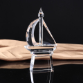 Wholesale cheap sailboat shape crystal trophy for business gift use