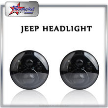 Round Jeep Headlights High/Low Beam Projection Lens Headlamp 7 Inch LED headlight for Jeep