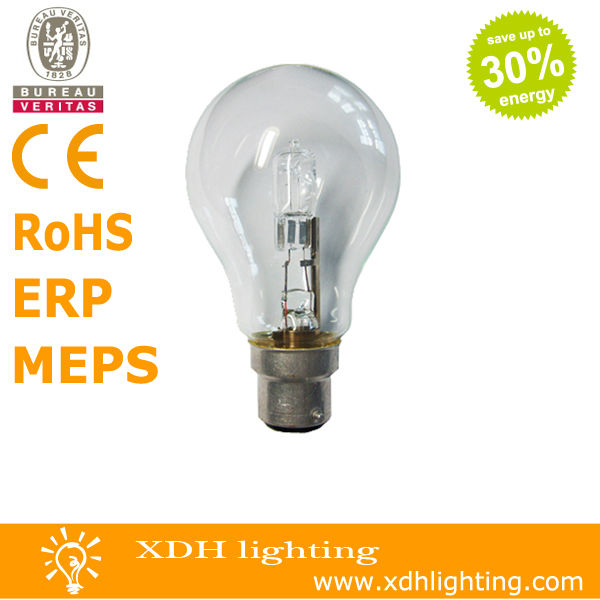 A55 220-240V 52W B22 energy saving halogen bulb lamp