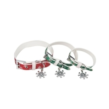Special design beautiful pet dog collar with snowflake pendant decoration