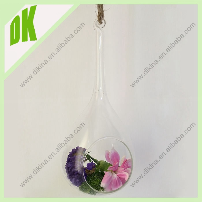 // Beach Terrarium, Home and Living, Mother's Day Gift//90*180mm wholesale water drop flat bottom glass balls