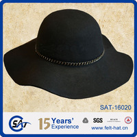 100% wool felt floppy hat