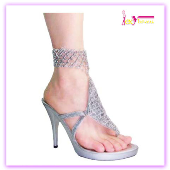 Manufacture knick-knack with crystal ankle strap flash light guangdong women sandals
