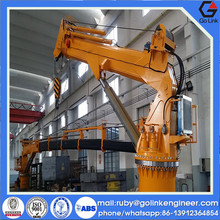 trade assurance china supplier hydraulic or electric marine slewing crane